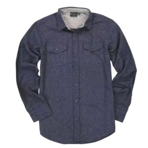 NWT Burnside Solid Button Up Flannel Shirt - Blue